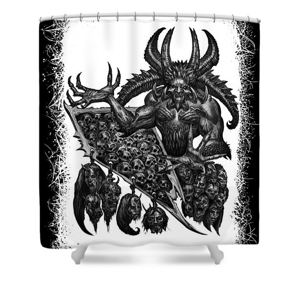 Display The Sins At Hand Shower Curtain