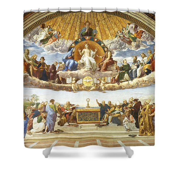 Disputation Of Holy Sacrament. Shower Curtain