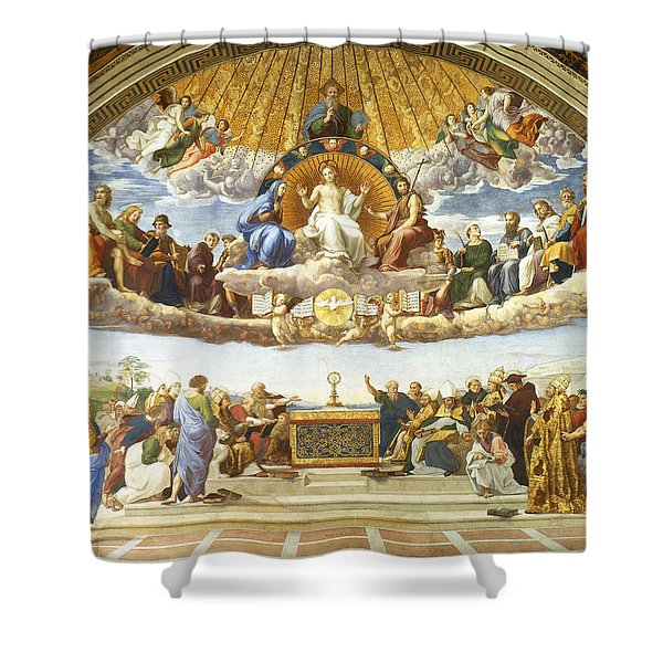 Disputation Of Holy Sacrament. Shower Curtain