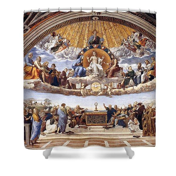 Disputation Of The Eucharist  Shower Curtain
