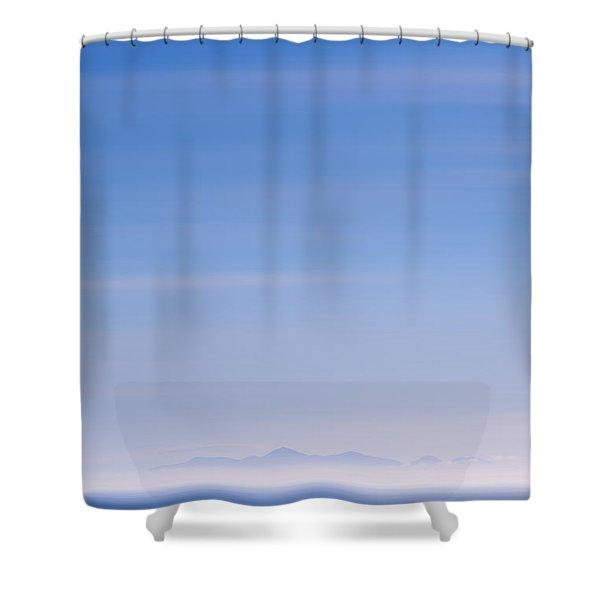 Distant Hills Shower Curtain