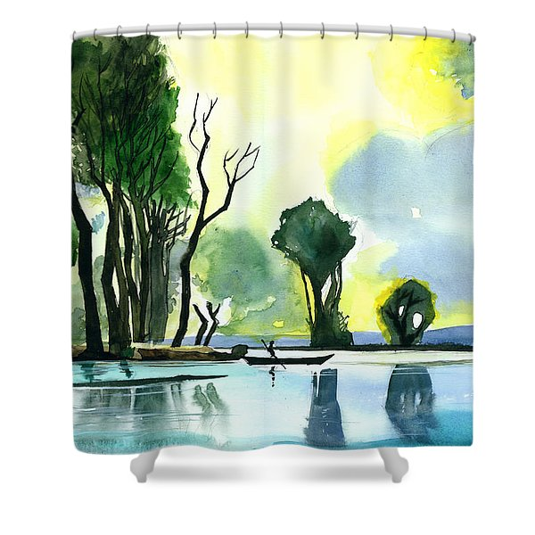 Distant Land Shower Curtain