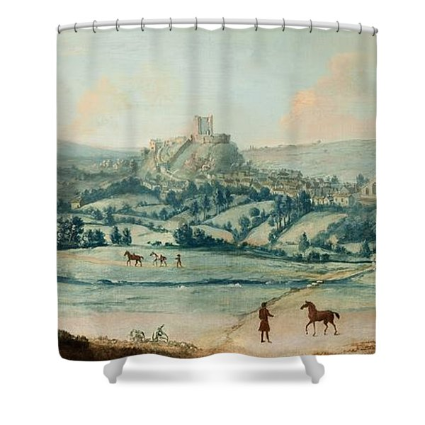 Distant View Of Clitheroe, C.1730 Shower Curtain