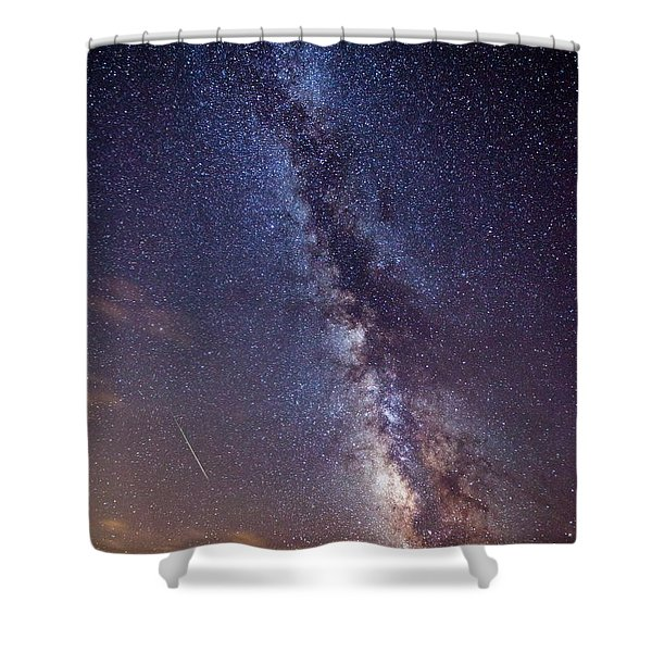 Distant Visitors Shower Curtain