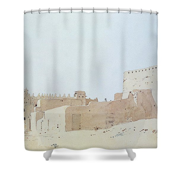 Djenne Mali Grande Mosquee, Monday, 2000 Wc On Paper Shower Curtain