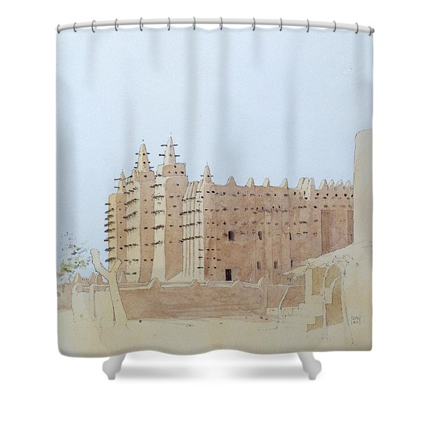 Djenne Mali Grande Mosquee, Tuesday, 2000 Wc On Paper Shower Curtain