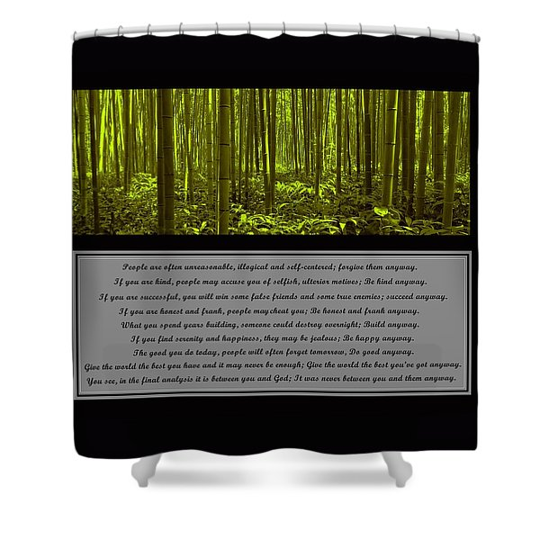 Do It Anyway Bamboo Forest Shower Curtain