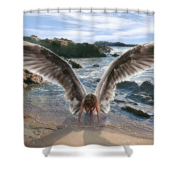 Do Not Fear I Have Come In Your Defense Shower Curtain