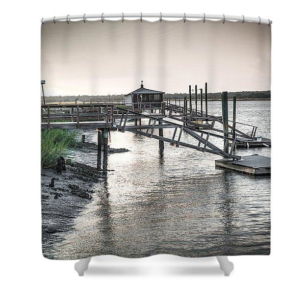 Docks Of The Bull River Shower Curtain