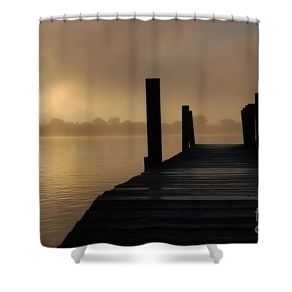 Dockside And A Good Morning Shower Curtain