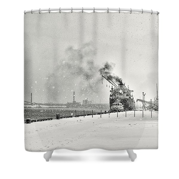 Dockyard Shower Curtain