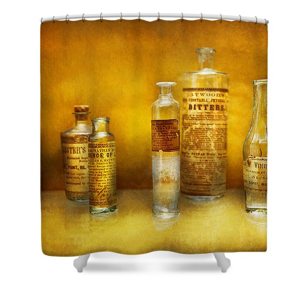 Doctor - Oil Essences Shower Curtain by Mike Savad