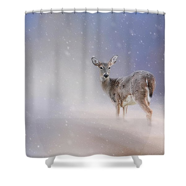 Doe In The Snow Shower Curtain