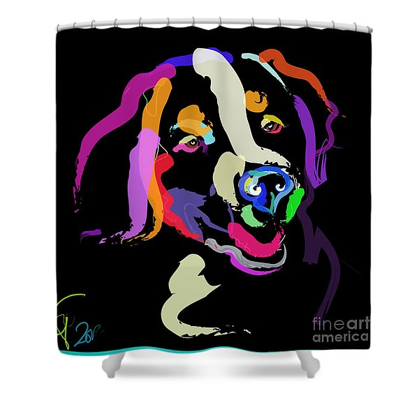 Dog Iggy Color Me Bright Shower Curtain