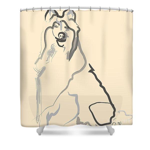 Dog - Lassie Shower Curtain
