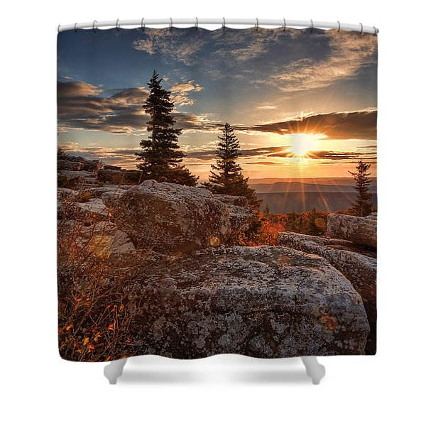 Dolly Sods Morning Shower Curtain