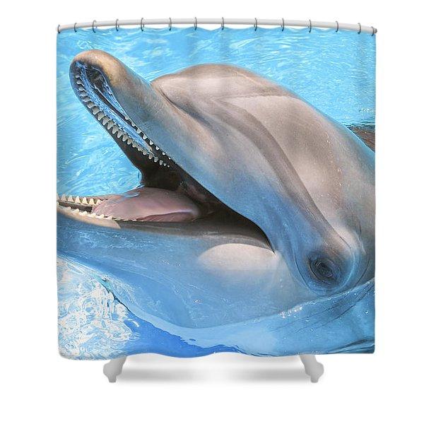 Joyous Smile Shower Curtain