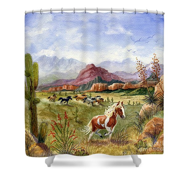 Don't Fence Me In Part One Shower Curtain