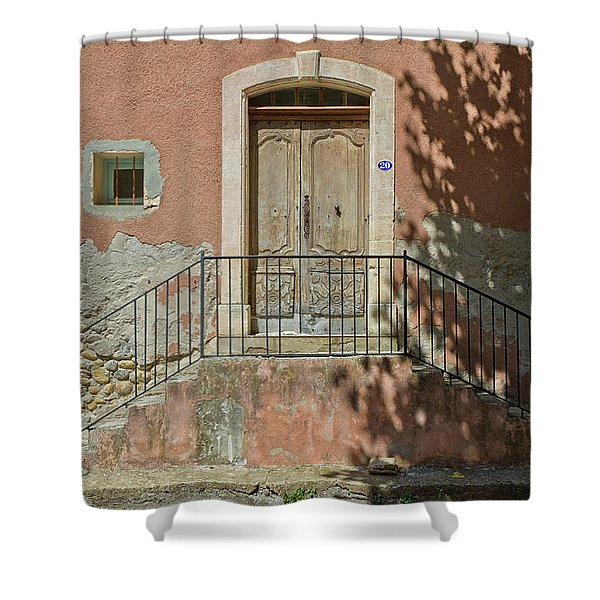 Door And Shadow Shower Curtain