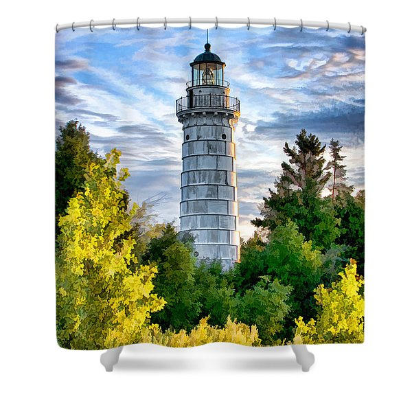 Door County Cana Island Beacon Shower Curtain