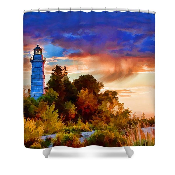 Door County Cana Island Wisp Shower Curtain