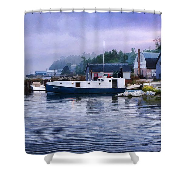Door County Gills Rock Fishing Village Shower Curtain