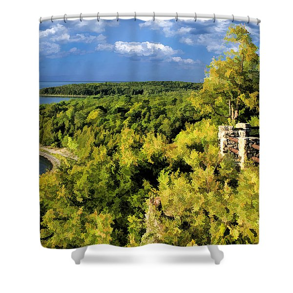 Door County Peninsula State Park Svens Bluff Overlook Shower Curtain