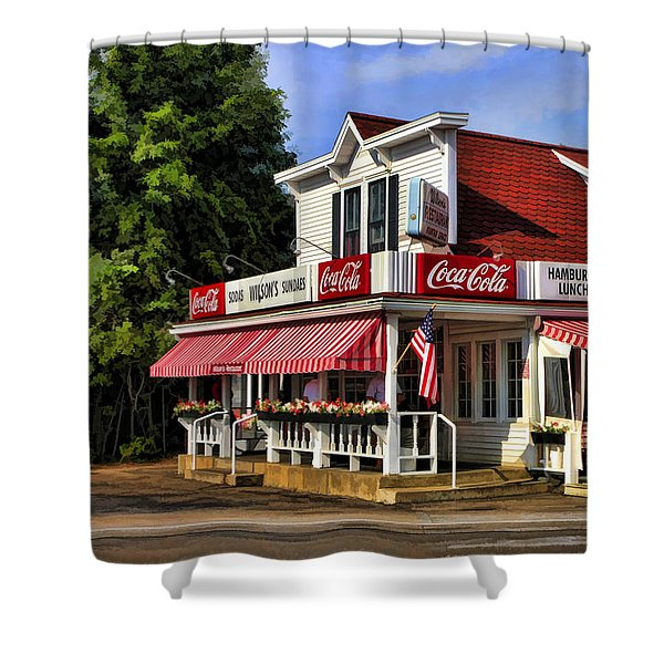 Door County Wilson's Ice Cream Store Shower Curtain