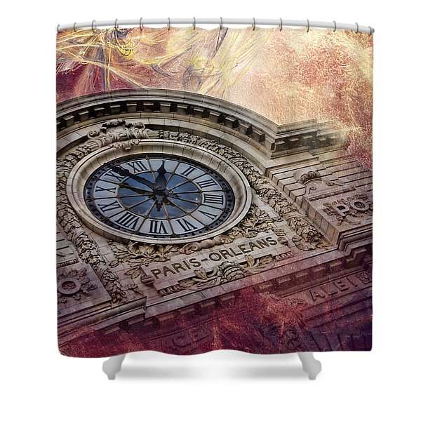 D'orsay Clock Paris Shower Curtain