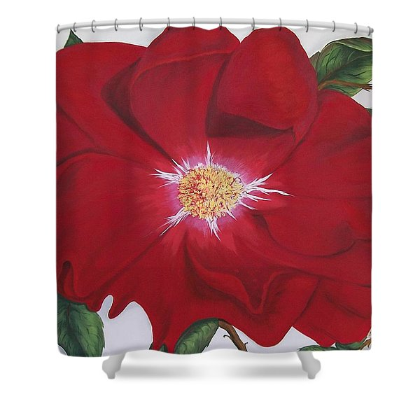 Dortmund Climber Rose Shower Curtain