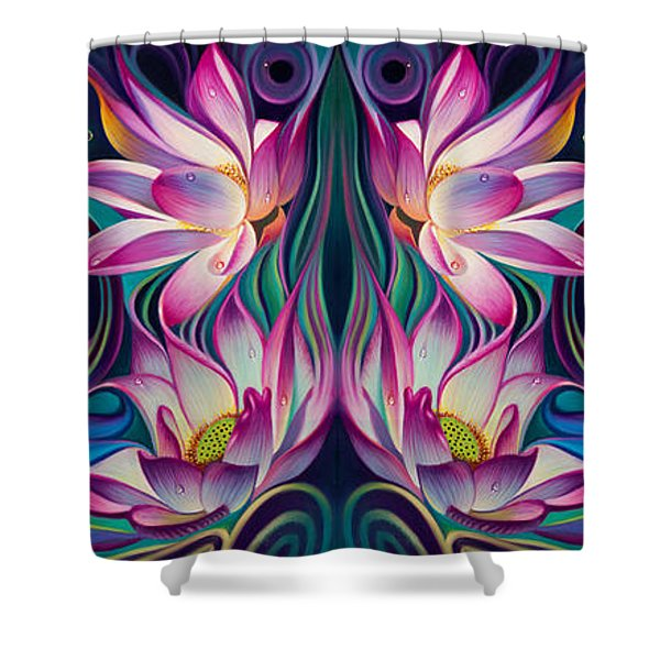 Double Floral Fantasy 2 Shower Curtain