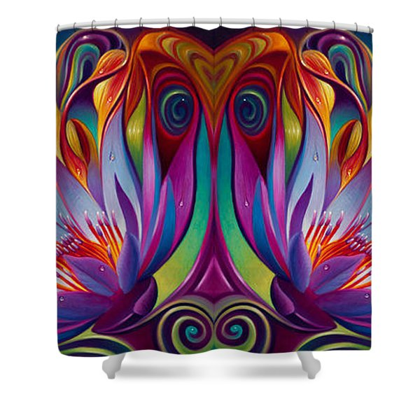 Double Floral Fantasy Shower Curtain