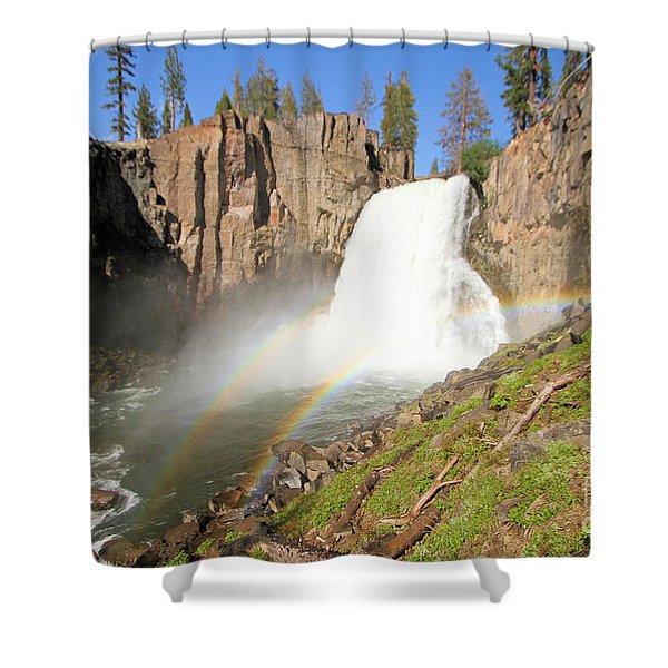 Double Rainbow Falls Shower Curtain
