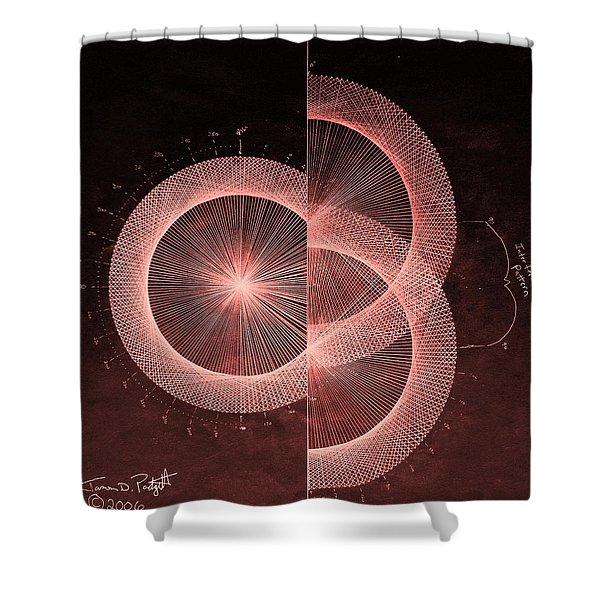 Double Slit Test  Shower Curtain