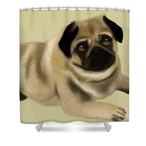Doug The Pug Shower Curtain