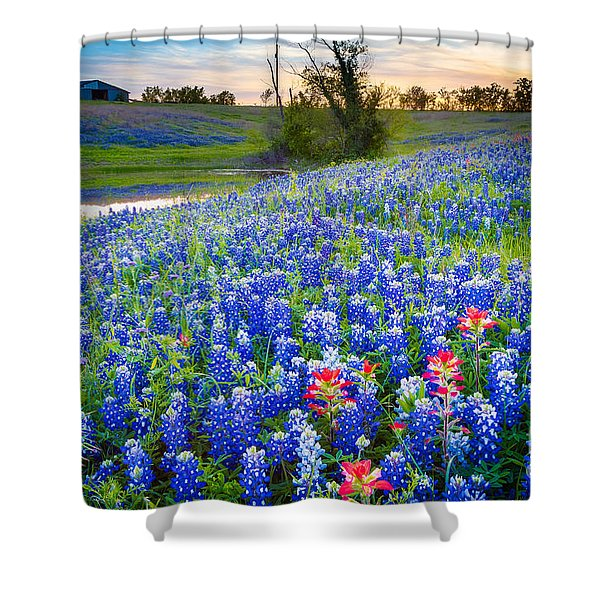 Down By The Pond Shower Curtain