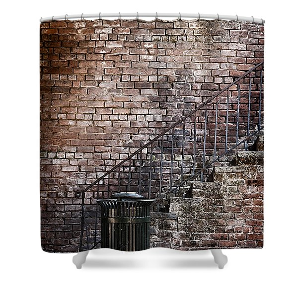 Down In The Dumps Shower Curtain