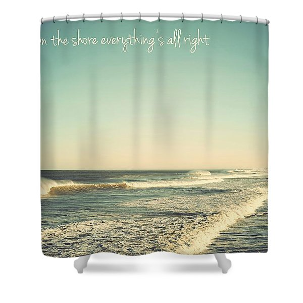 Down The Shore Seaside Heights Vintage Quote Shower Curtain