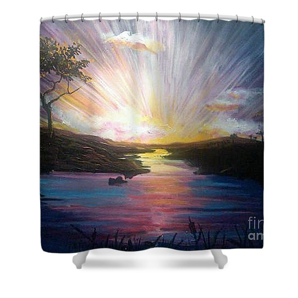 Down To The River Shower Curtain