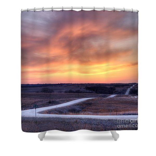 Down To The Rolling Hills Shower Curtain