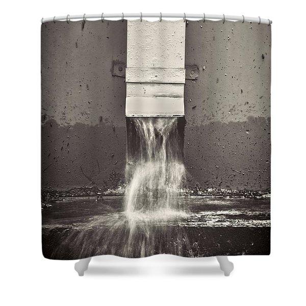 Downspout Shower Curtain