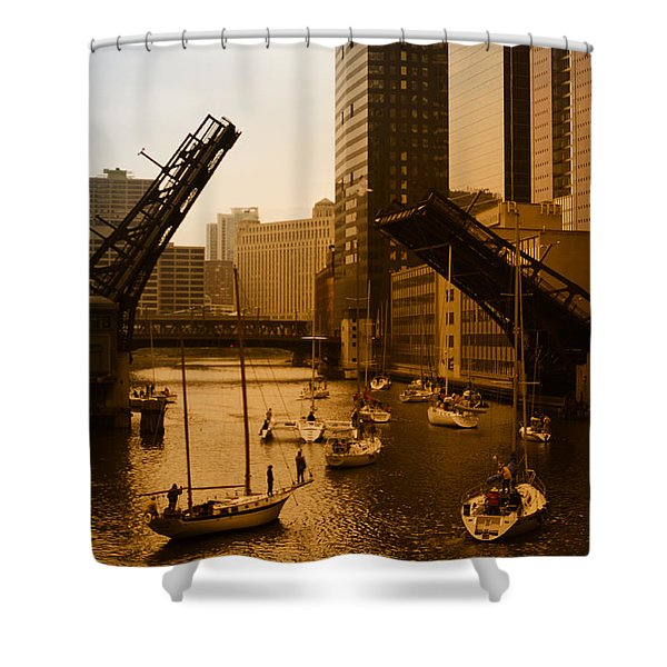 Downtown Chicago Shower Curtain