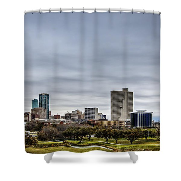 Downtown Fort Worth Trinity Trail Shower Curtain
