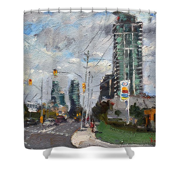 Downtown Mississauga On Shower Curtain