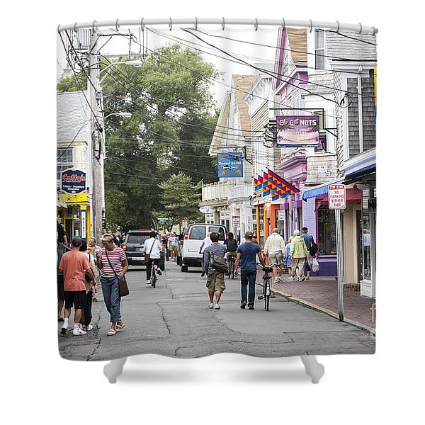Downtown Scene In Provincetown On Cape Cod In Massachusetts Shower Curtain