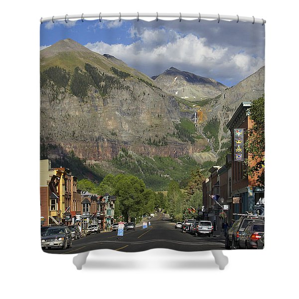 Downtown Telluride Colorado Shower Curtain