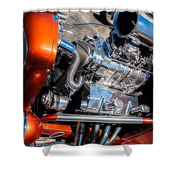Drag Queen - Hot Rod Blown Chrome  Shower Curtain
