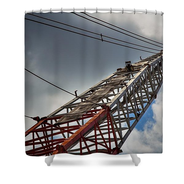 Dragline 553 Shower Curtain