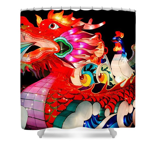 Dragon Float Shower Curtain