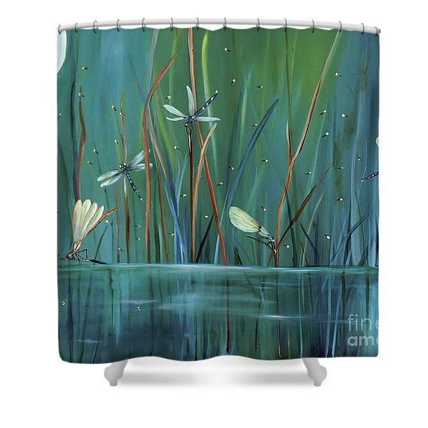 Dragonfly Diner Shower Curtain